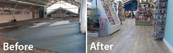 Commerical Retail Flooring Case study - Garden Centre